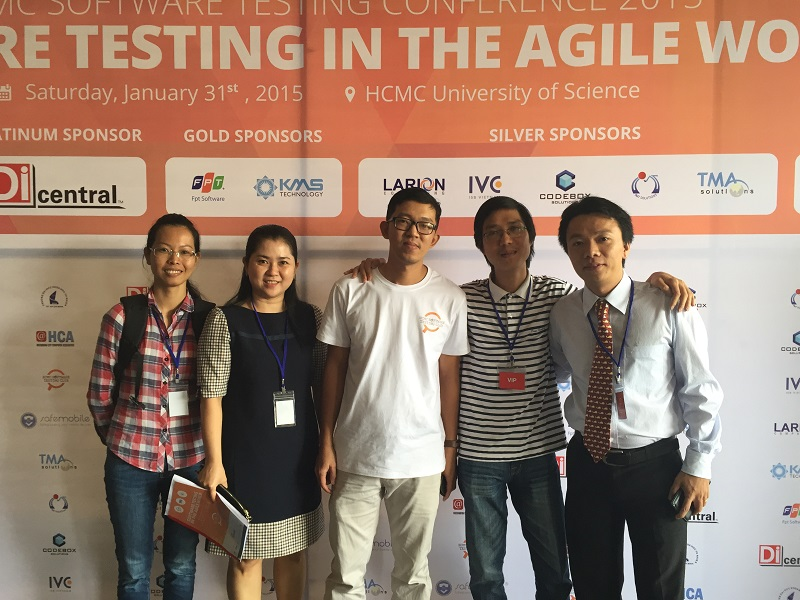 IMT team at the Agile Software Testing conference