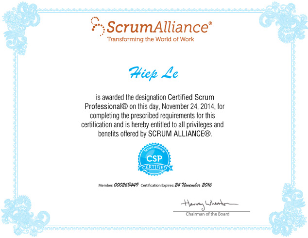 IMT's Certified Scrum Professional Certificate