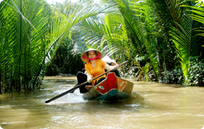River in Mekong Delta southern of Vietnam